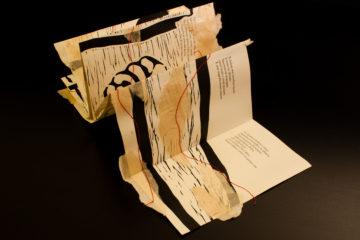 Camera anecoica, linoleumgrafia, legatoria artistica, opera di Elisa Simoncelli